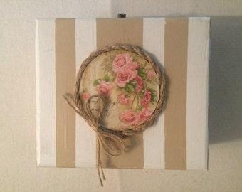 Decoupage wooden jewelry box