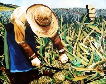 Pineapple Worker