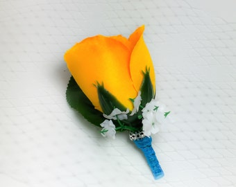 Orange Bud Rose Boutonniere