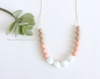 Stacey Silicone Nursing Necklace, Silicone Teething Necklace, Breastfeeding Necklace, Chewelry