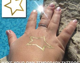 Custom Temporary Tattoos - Make Your Own Metallic Tattoos - Tattoo Design - Turn Your Logo Into Tattoos - Jewel Flash Tattoos - Fake Tats