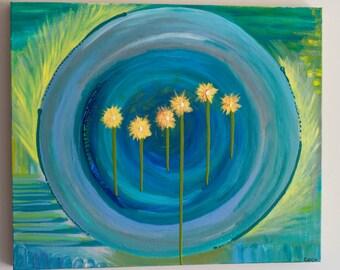 Orignal Art, Acrylic Painting, Asheville Artist, 20x24