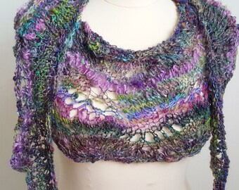 Hand Spun,  Hand Knitted Shawl