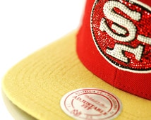 Mitchell & Ness San Francisco 49ers Snapback Hat w/ Swarovski Elements