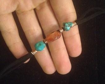 Turquoise and Carnelian Bracelet