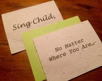 Greeting Card, Sing Child