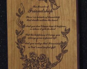 Friendship plaque