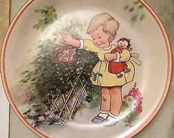 Mabel Lucie Attwell decorative plate by Davenport Potteries - limited edition.