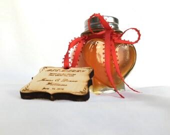 honey wedding favors, wedding honey jars  12 heart jars of raw California orange blossom honey(5.5 oz)