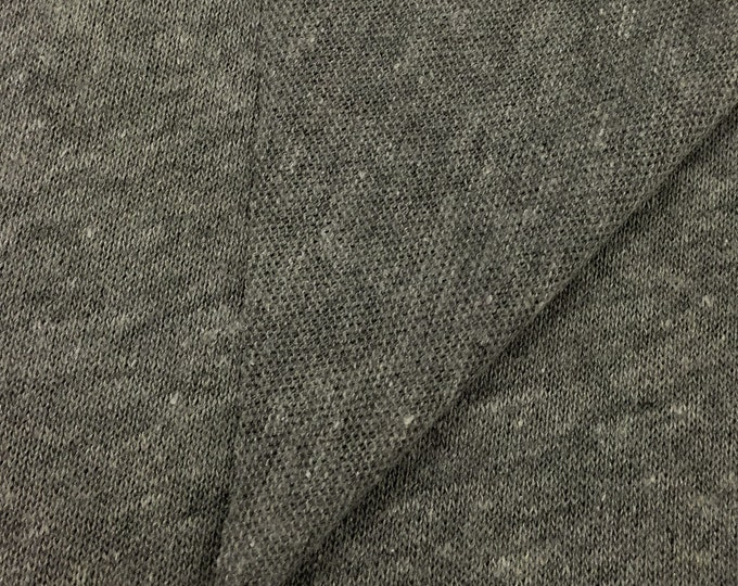 Soft and Stretchy Loose Stitch Jersey Knit Fabric (Wholesale Price By The Bolt) USA Made Premium Quality - 5559PCRH Heather Grey - 1 Yard