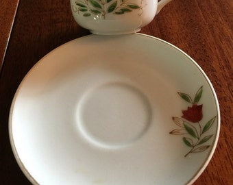 Demitasse,  Cup and Saucer, Made in Occupied Japan