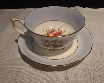 Hammersley and Co Vintage Teacup and Saucer