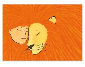 Postcard Lion