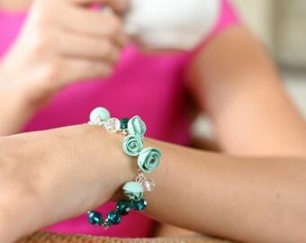Mint Roses Bracelet