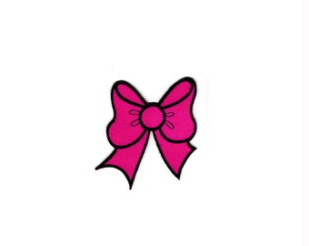 Cute Pink Bow Cross Crown Fleur De Lis Embroidered Iron On Sew Patches Patch Appliques  Biker For Jackets Jeans