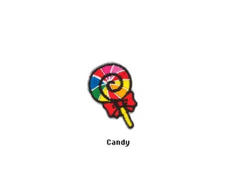 Cute Fruits Food Candy Chocolate Cupcake French fries Hamburger Kids Embroidered Sew Iron On Patches Patch Appliques Biker Small For Jeans