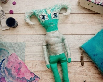 Alien, cloth toy with painting,  monster