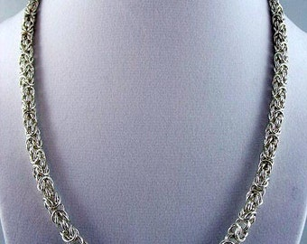Argentium necklace and bracelet