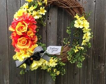 Summer/Spring Bright Beautiful Wreath