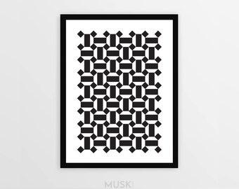 "Framed Print ""Zelli-nimal 01"", Zellige, Moroccan Pattern, Minimalism, Modern, Wall Art, Wall Decor, Scandinavian Meets Moroccan"