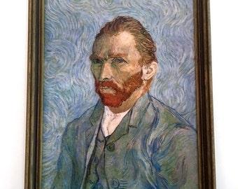 SALE!!! Vintage Print Van Gogh Self Portrait