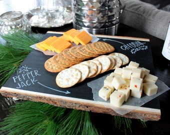 DIY Chalkboard Cheese Tray Craft Kit  - FREE Shipping! - DIY kit - serving tray - Chalkboard serving tray - Home decor