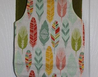 Bohemian Feather Burp Cloth
