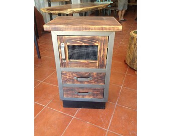 Rustic Industrial Short Cabinet