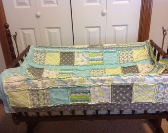 Child's rag style quilt