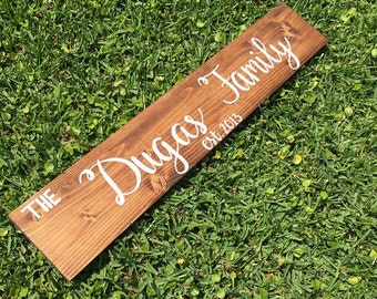 Wood sign, wooden sign, home decor sign, family sign, family wood sign, last name sign, last name wooden sign, rustic sign, farmhouse sign