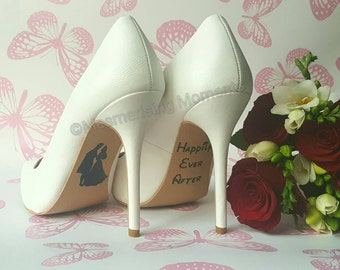 Disney Wedding Shoe Decal / Sleeping Beauty / Happily Ever After / Love / Marriage
