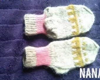 Handknitted woolen socks