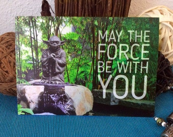 May the Force be with you. Three postcards in set + green envelope! - Postcrossing card - Star Wars - Jedi Master Yoda
