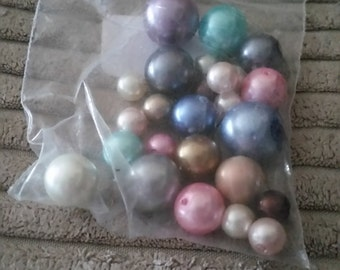 Pastel Coloured Glass Pearl Beads