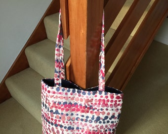 Tote bag - funky fabric - shopping - gifts for her