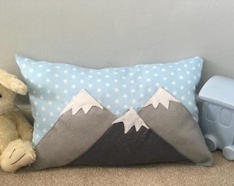 Handmade Mountain trio cushion