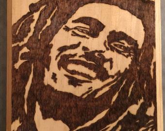 Bob Marley woodburning