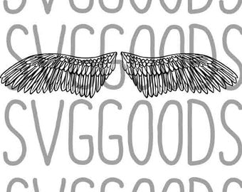 Wings dxf, feathers dxf, angel dxf, religious dxf, remembrance dxf, in memoriam dxf, RIP dxf, wings ready dxf, vector file, cut file, cricut