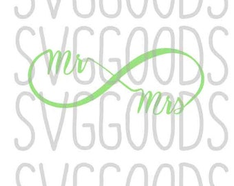 Infinity Symbol svg, Wedding infinity svg, mr and mrs svg, mrs infinity svg, mr infinity svg, wedding infinity svg, marriage infinity svg