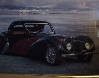 37 bugatti photo framed
