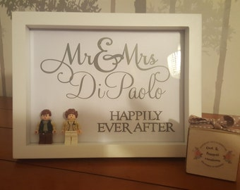 Mr Mrs Happily Ever After Star Wars Framed Gift Personalised Wedding