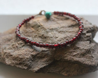 Beaded Bracelet: Red Hot Mama