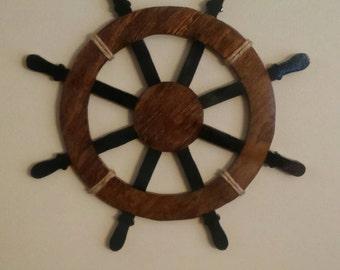 Nautical boat wheel wall decor