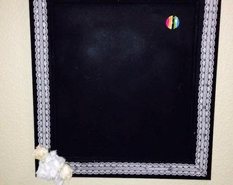 11x13 magnetic chalk board.