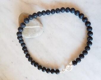 Volcanic stones necklace