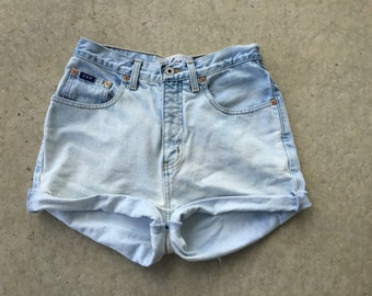 Lightly Bleached High Waisted Shorts