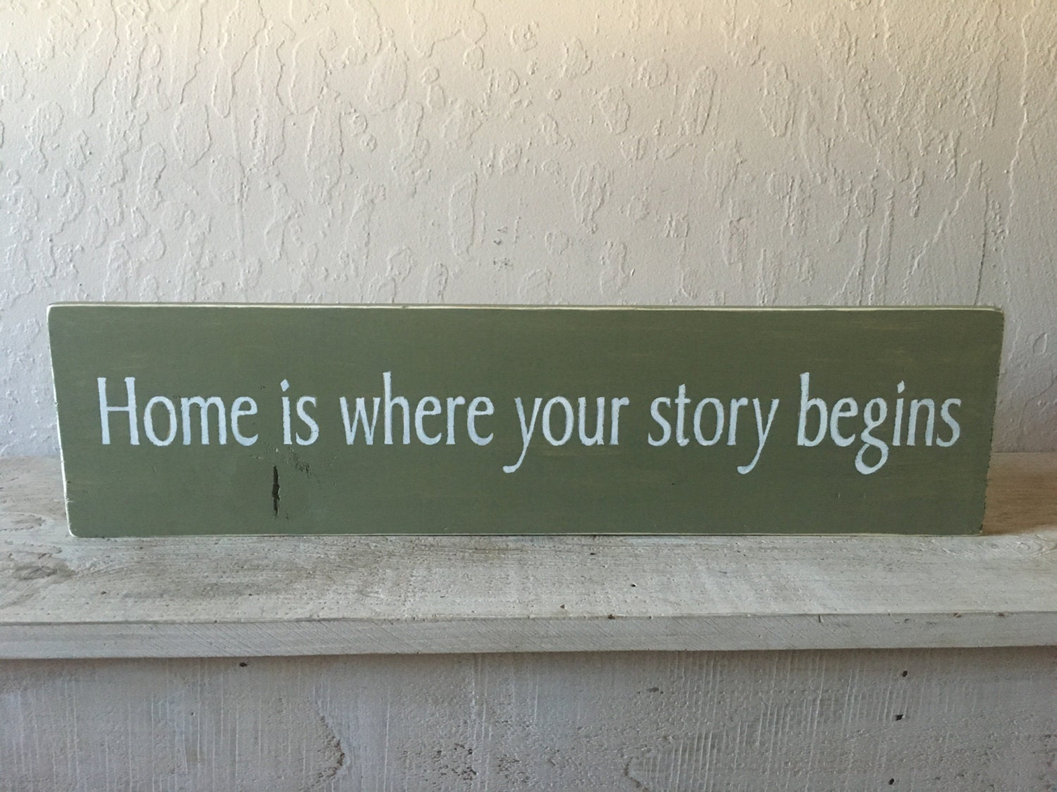 Home is where your story begins wood sign by RusticSignsEtc