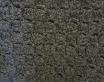 Merino blanket, handspun merino rug, soft merino rug, crocheted handspun merino blanket
