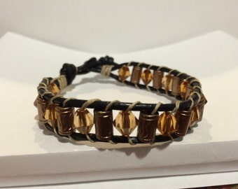 Chan luu inspired beaded bracelet 8 3/4 inch