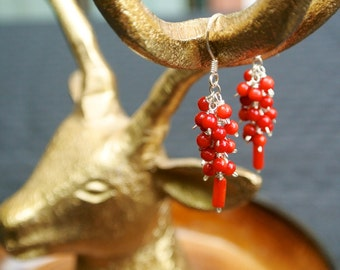 coral and silver